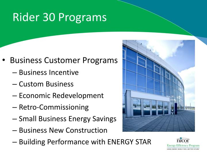 Rider 30 Programs