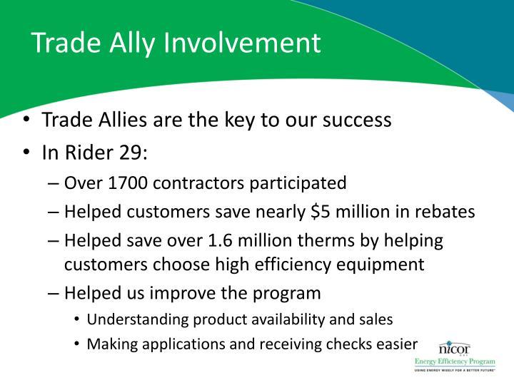 Trade Ally Involvement