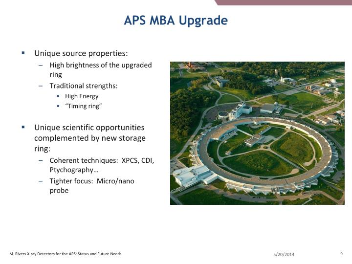 APS MBA Upgrade