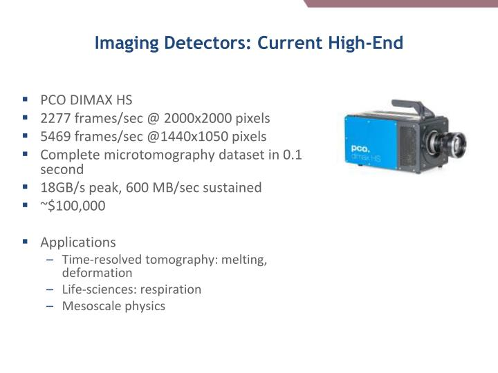 Imaging Detectors: Current High-End