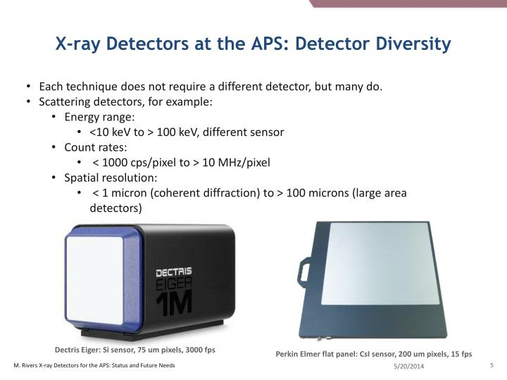 X-ray Detectors at the APS: Detector Diversity