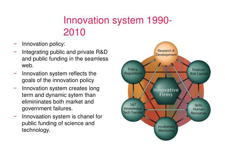 Innovation system 1990-2010