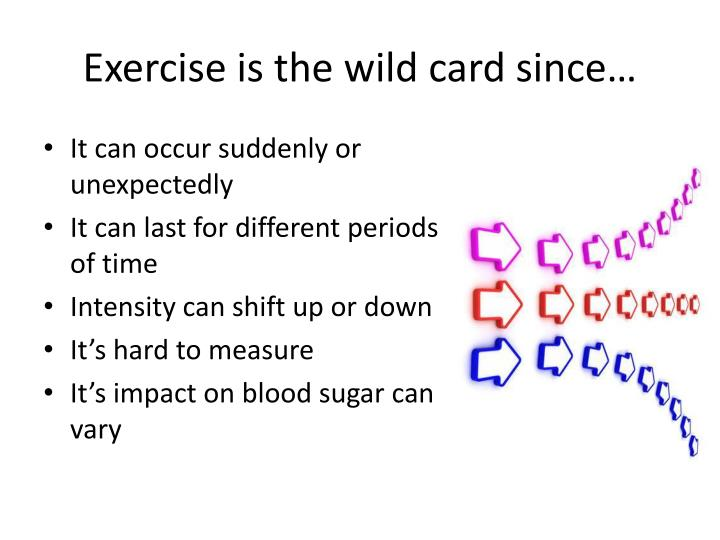 Exercise is the wild card since…