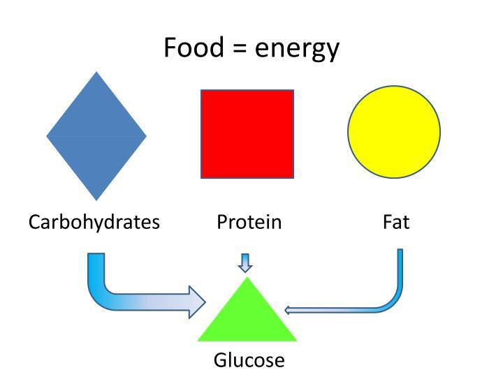 Food = energy