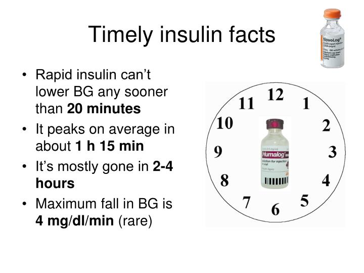 Timely insulin facts