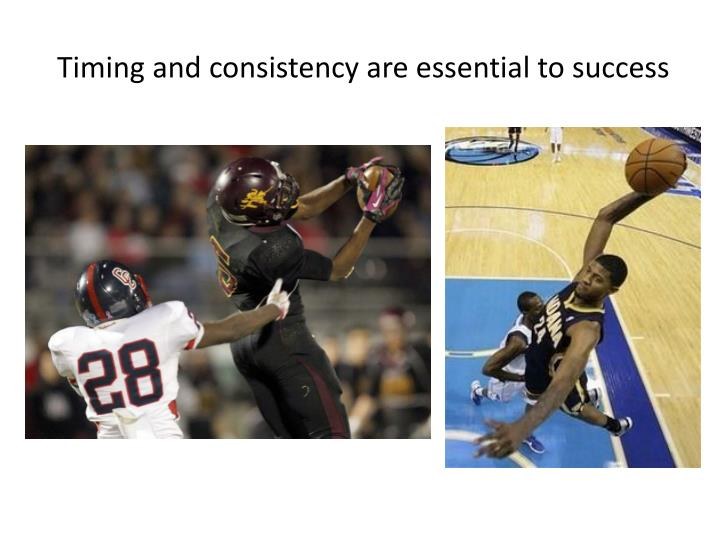 Timing and consistency are essential to success