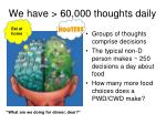 we have 60 000 thoughts daily