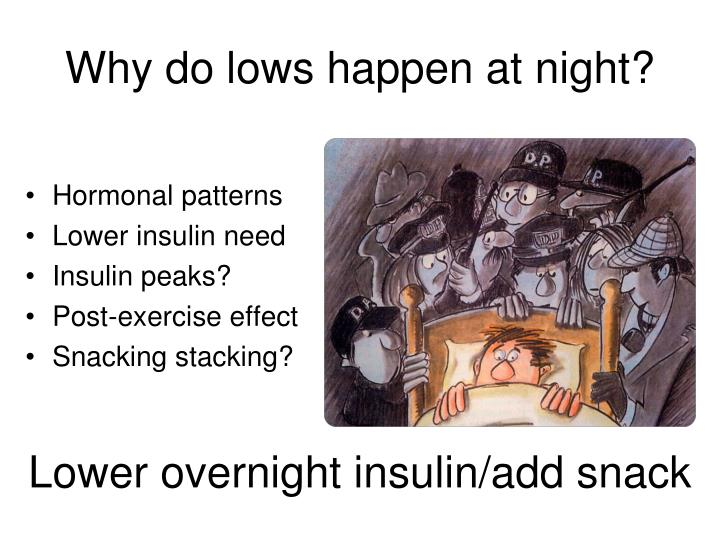 Why do lows happen at night?