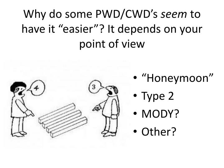 Why do some PWD/CWD's