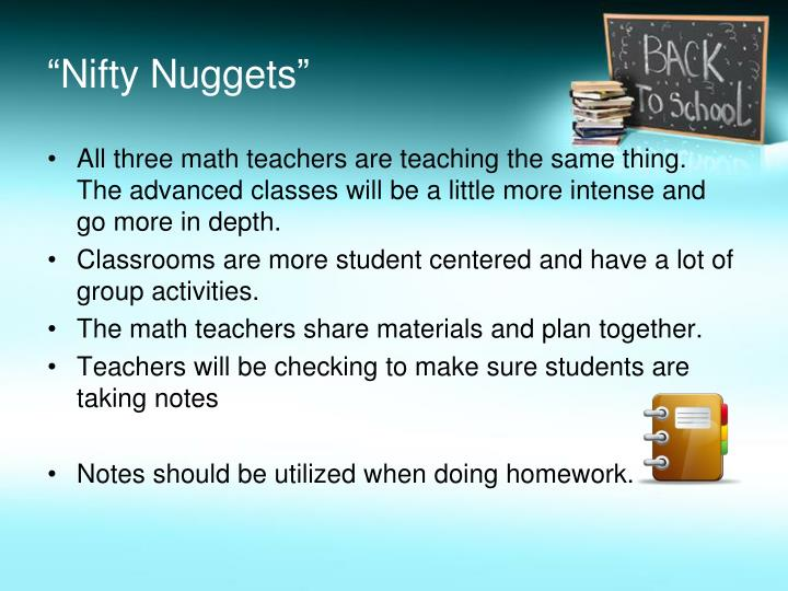 """""""Nifty Nuggets"""""""