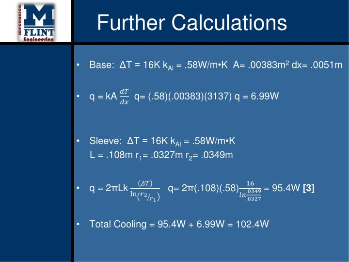 Further Calculations