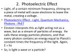 2 photoelectric effect