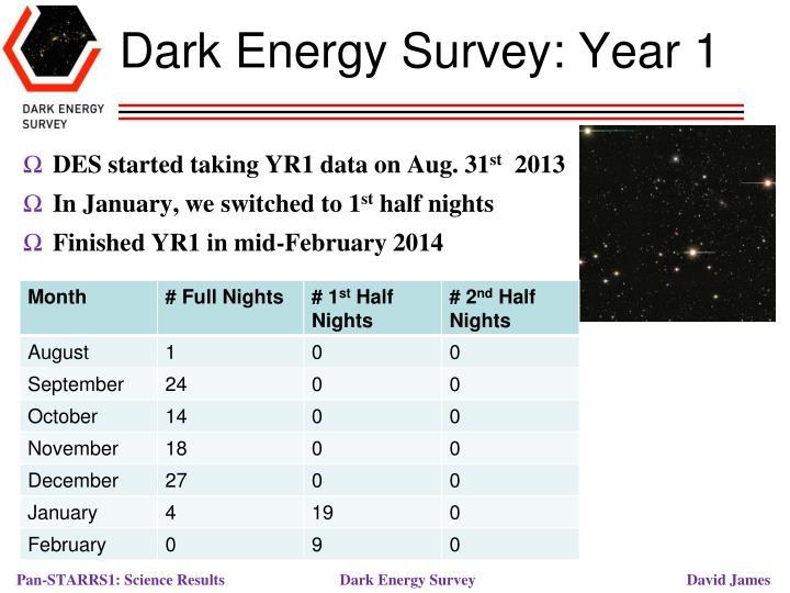 Dark Energy Survey: Year 1
