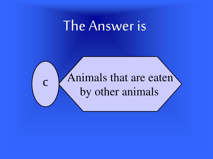 Animals that are eaten
