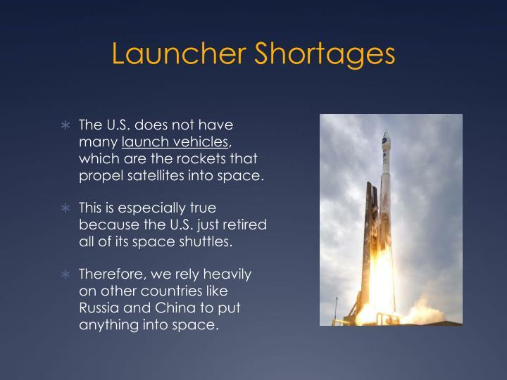 Launcher Shortages
