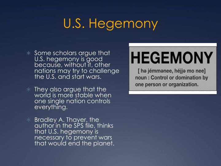 U.S. Hegemony