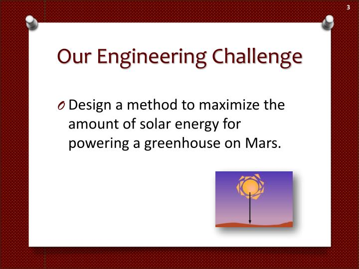 Our Engineering Challenge