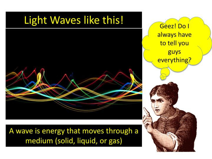Light Waves like this!