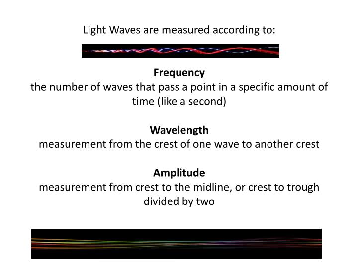 Light Waves are measured according to: