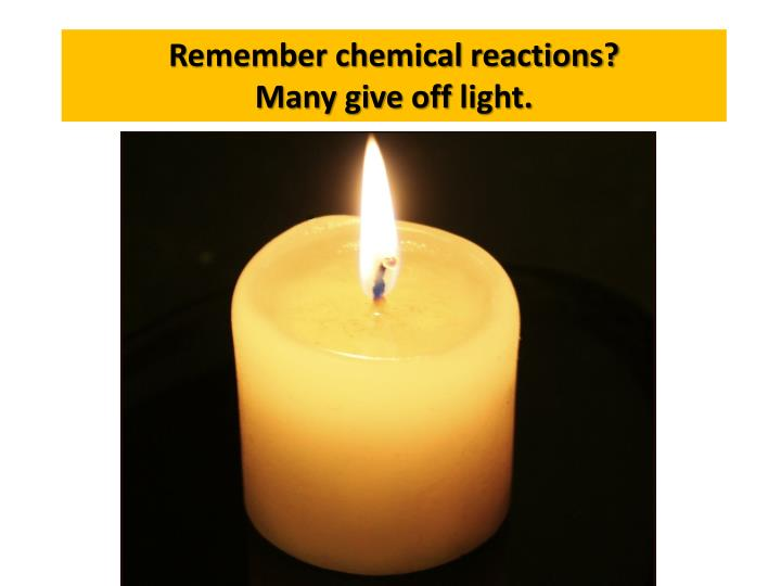 Remember chemical reactions?