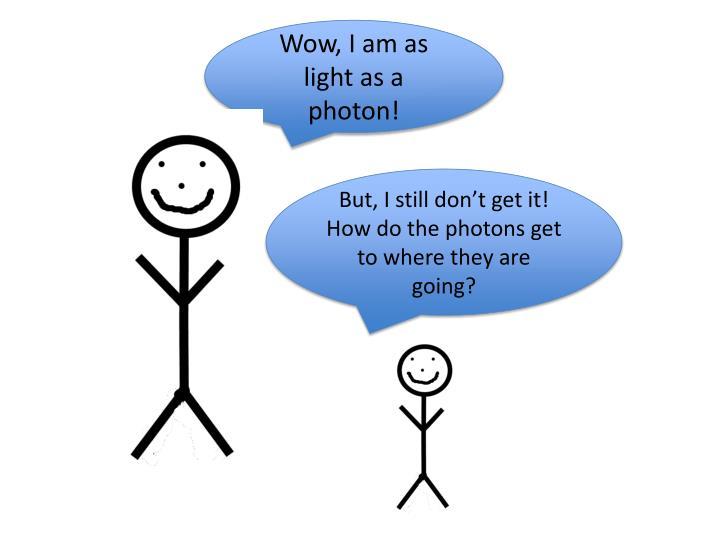 Wow, I am as light as a photon!