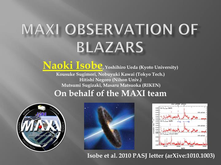 Maxi observation of blazars
