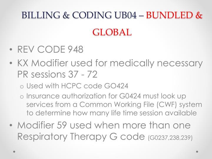 BILLING & CODING UB04 –