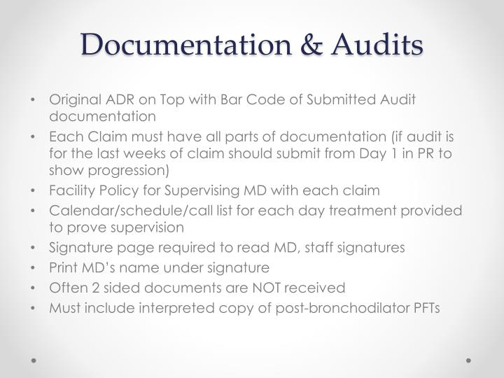 Documentation & Audits
