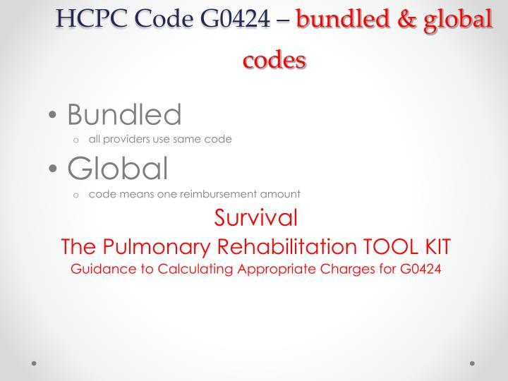 HCPC Code G0424 –