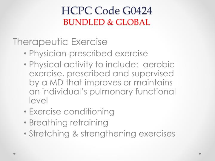 HCPC Code G0424