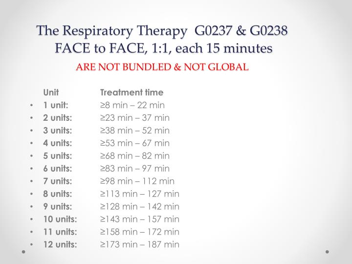 The Respiratory Therapy  G0237 & G0238