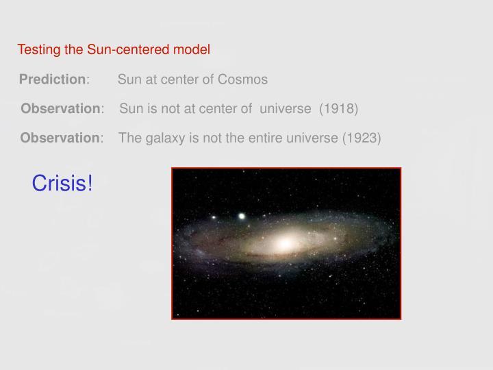Testing the Sun-centered model