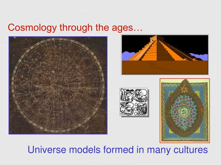 Cosmology through the ages…