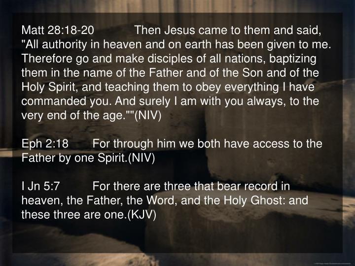 Matt 28:18-20
