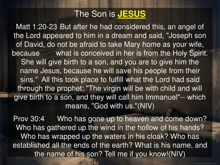 The Son is