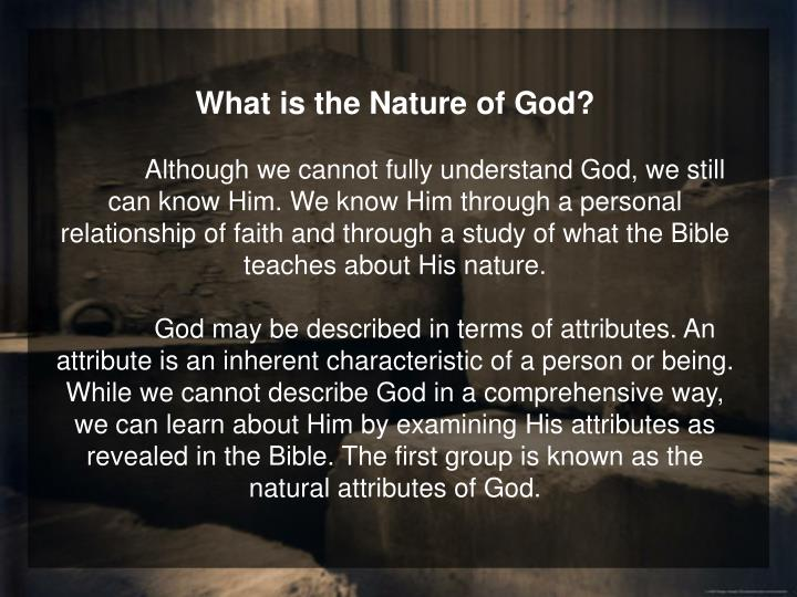 What is the Nature of God?
