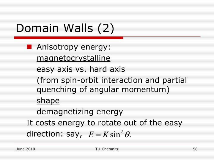 Domain Walls (2)