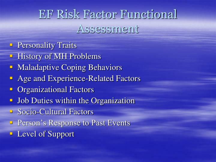 EF Risk Factor Functional Assessment