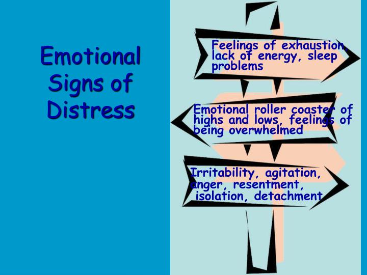Emotional Signs of Distress