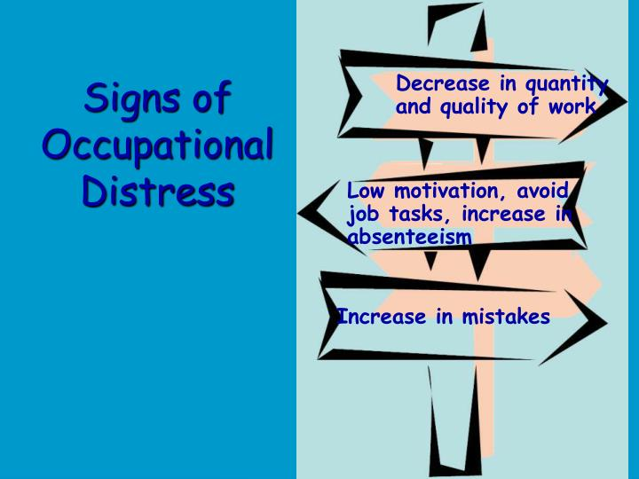 Signs of Occupational