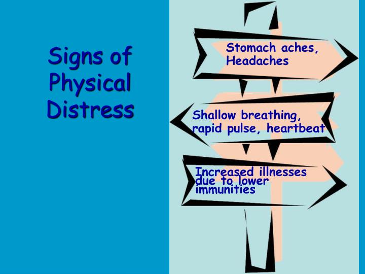 Signs of Physical Distress