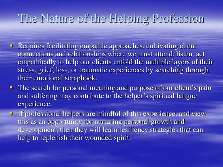 The Nature of the Helping Profession