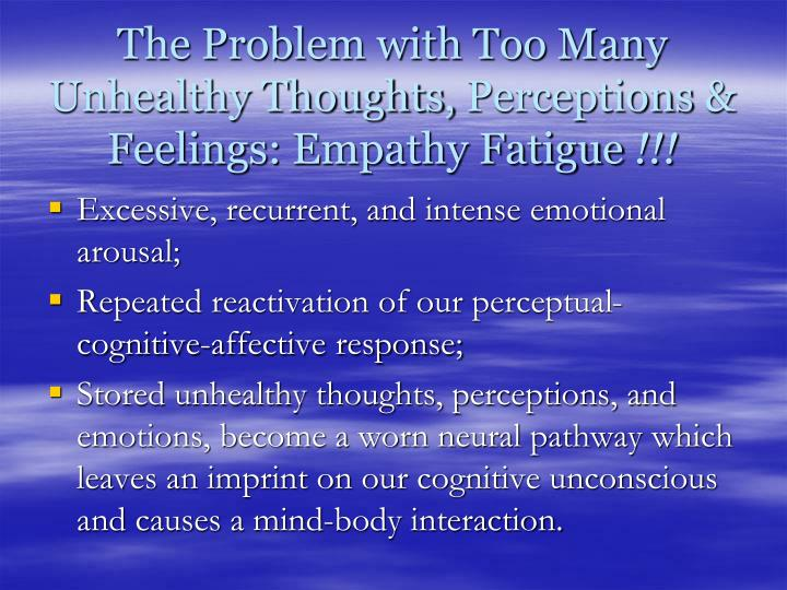 The Problem with Too Many Unhealthy Thoughts,
