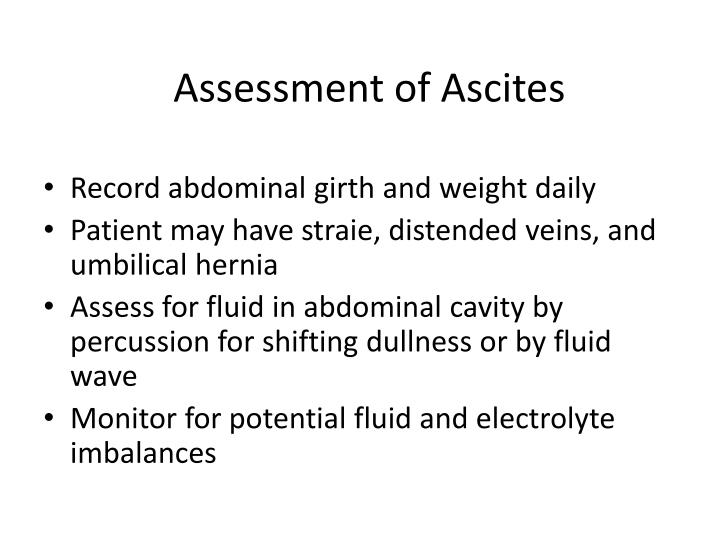 Assessment of Ascites