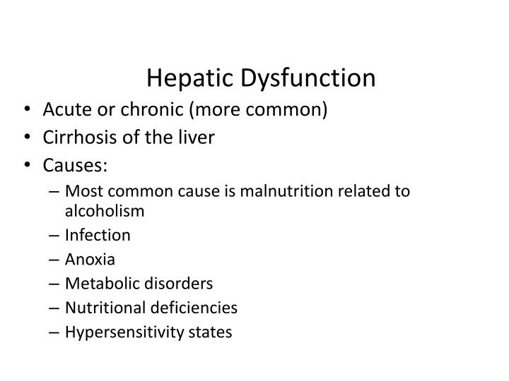 Hepatic Dysfunction