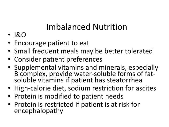 Imbalanced Nutrition