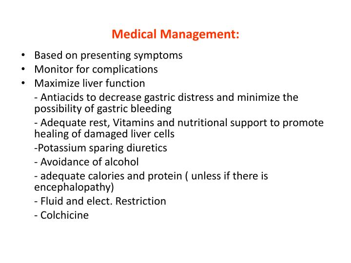 Medical Management: