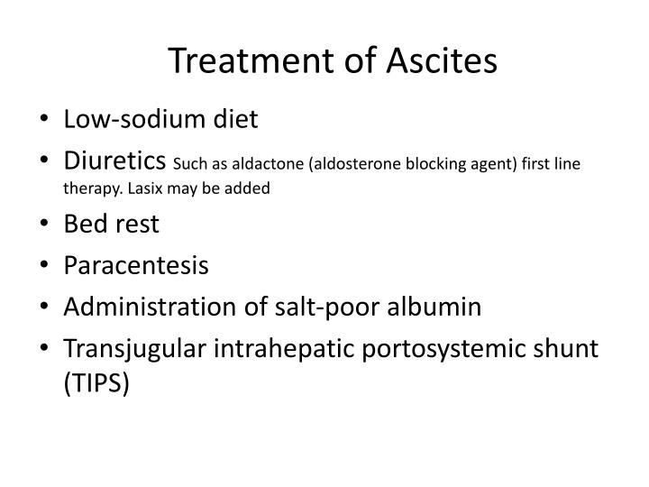 Treatment of Ascites