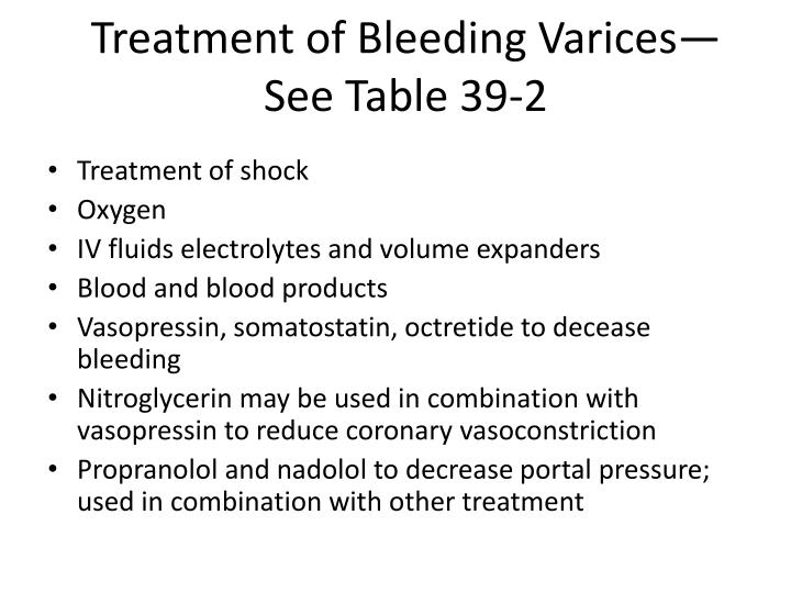 Treatment of Bleeding