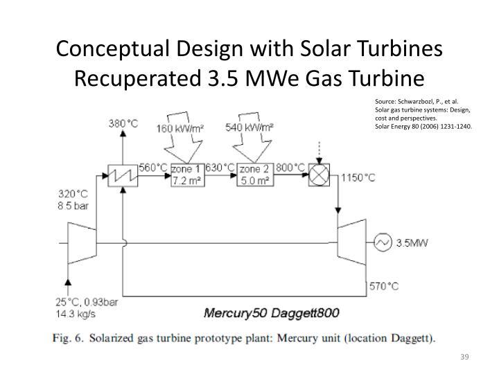 Conceptual Design with Solar Turbines
